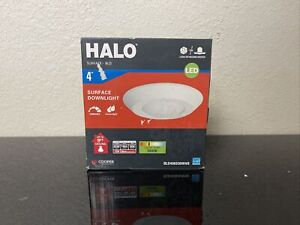 HALO-4 in. White Integrated LED Recessed Ceiling Mount Light Trim 3000K