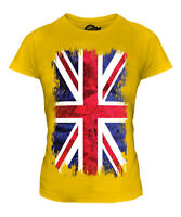 UNION JACK GRUNGE FLAG LADIES T-SHIRT TEE TOP UK GB GREAT BRITAIN UNITED KINGDOM