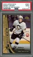 2005-06 upper deck stars in the making #sm1 SIDNEY CROSBY penguins rookie PSA 9