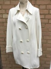**~Superb Quality Plus Size 18 M&S Winter Ivory/White Coat~**