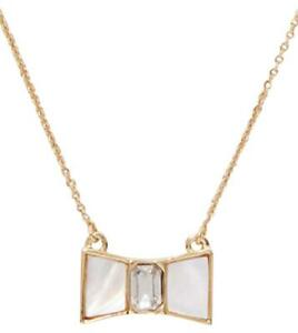 Kate Spade Bow Shoppe Mini Pendant Necklace NWT