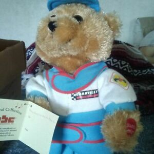 """Chantilly Lane 14"""" Ricky Racer Bear (Musical Collection)"""