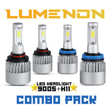 Lumenon H11 9005 Combo LED Headlight Kit Low High Beam 6000K 180W 8000LM Light