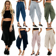 Viscose Harem Loose Fit High Trousers for Women