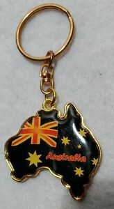 AUSTRALIA - KEY CHAIN Gold tone and Black