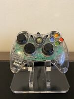 Xbox 360 Afterglow Clear Console Controller Wired PL-3702 + Breakaway Cable