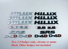 Two 2.8 Badges for 2015 2016 2017 2018 Hilux - Black or Chrome