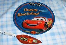 New Disney Cars Lightning McQueen 2pc Cake Plate & Server Set