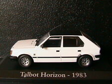 TALBOT SIMCA HORIZON GLS 1983 WHITE BLACK ROOF RBA COLLECTABLES 1/43 BLISTER