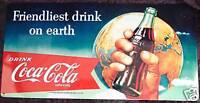Coca-Cola Nostalgie Blechschild 25x50cm Deko Bar Gastro