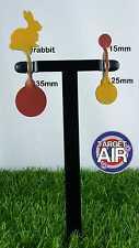 4 oggetti di metallo su 2 DOPPIO ACCIAIO Spinners AIR RIFLE SHOOTING plinking * pk01
