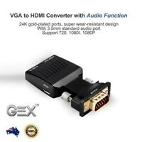New VGA to HDMI Male to Female Video Adapter  Converter with Audio HD 1080P