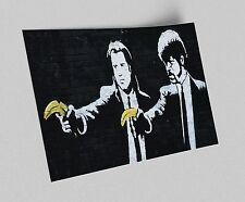 ACEO Banksy Pulp Fiction Bananas Graffiti Street Art Canvas Giclee Print