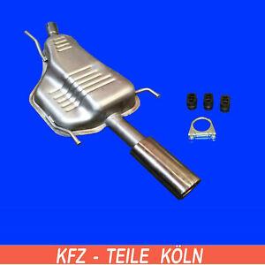 Opel Astra G Cabriolet / Coupé 1.6 1.8 2.2 Silenciadores de Escape Tubo + Kit