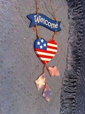 Nos Americana Welcome Sign Door Hanging