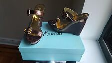 Marciano women's shoes, dark brown croco, size 8.5, comfortable / looks good on