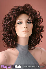 Full Flowing Curls!! Styling New Wig Brown Red Mix