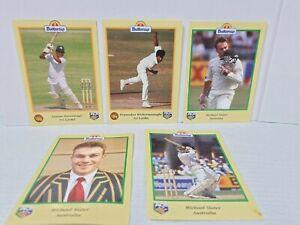 1996 Buttercup Bread Cards ICC Cricket Australia Michael Slater  / India Promos
