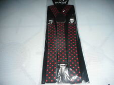 MENS  BRACES  FULLY ADJUSTABLE BLACK//RED  BRAND NEW ONLY £1,99