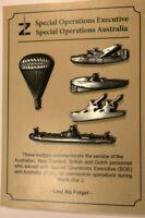 Z Special Unit commemorative pins
