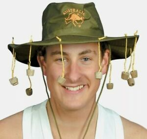 Australian Cork Hat with 10 Corks Adult fancy dress