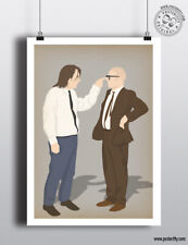 BOTTOM - Richie & Eddie Comedy print Minimal Poster Posteritty Rik Mayall Ade
