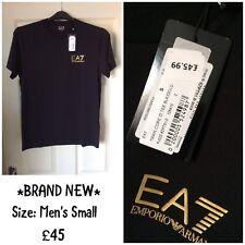 Emporio Armani EA7 New Crew Neck short sleeve Men's T Shirt Black size Small S
