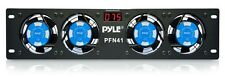 """NEW PylePro PFN41 19"""" Rack Mount Cooling Fan System W/Temperature Display"""