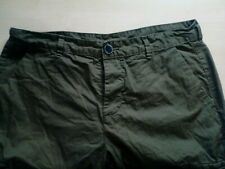 Mens Olive Green Cotton Shorts W32