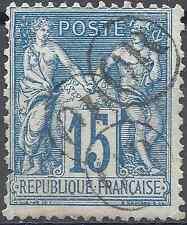"""FRANCE TIMBRE TYPE SAGE N°90 OBLITÉRATION """"OR"""" x3 DANS UN CERCLE"""