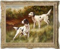 "Hand painted Old Master art Oil painting Animal Portrait dog on Canva 30""X40"""