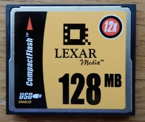 LEXAR 128MB COMPACT FLASH CompactFlash Drive