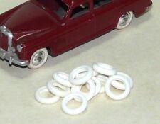 Lot de 12 pneus blancs lisses creux 14/9 pour voitures CIJ