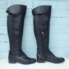 09cbd7ebba81 £279 Reiss Leather Boots Size Uk 4 Eur 37 Sexy Womens Pull on Black Boots