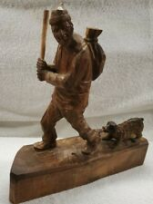 Vintage André Bourgault Hand Carved Wood Sculpture Museum Piece Woodworking Art