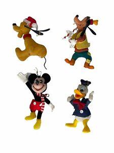 Walt Disney Vintage Christmas Ornaments Mickey Mouse Pluto Goofy Donald Duck