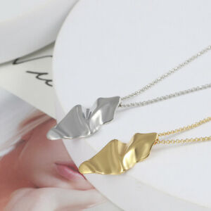 Alexis Bittar Gold Crumpled Metal Leaf Long Necklace