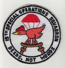 Wartime Thai Made 19th Special Operations Squadron Patch