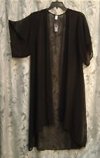 CHIFFON OPEN-FRONT KIMONO KAFTAN CARDIGAN JACKET DUSTER TOP~2X~1X~0X~XL~XXL~NEW