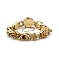 14K SOLID GOLD SLIDE BRACELET DIAMOND OPAL AMETHYST RUBY TOURMALINE #E-223