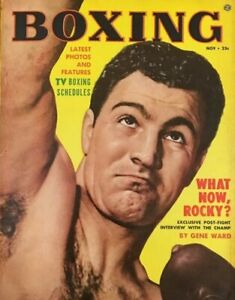 ROCKY MARCIANO 8X10 PHOTO BOXING PICTURE NOV BOXING