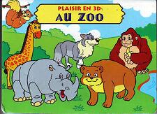 Au Zoo * Album Carton avec décor 3D * WH Almere éditions * animaux imagier