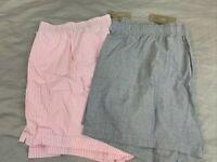 J.Crew Men's Cotton Boxers Underwear Lot of 2 Pink Stripe/Blue Size XL