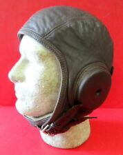 """NAVAL AVIATION """"CADET"""" FLYING HELMET W/DOUBLE STRAPS- SIZE LARGE"""