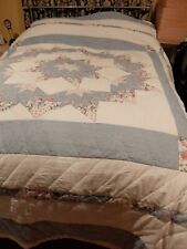 """Vintage Patchwork Quilt Throw ~ Size approx 106""""x 93"""""""