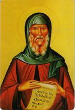 "Orthodox Icon Prayer Card - Saint Anthony (2.2"" x 3.4"") Durable Plastic -NEW"