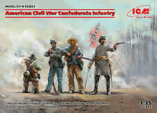 American Civil War Confederate Infantry (4 figures) 1/35 ICM 35021