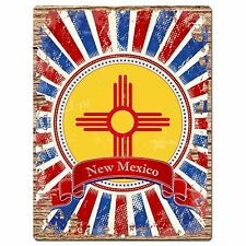 PP1010 USA NEW MEXICO State Flag Chic Sign Home Shop Store Room Wall Decor