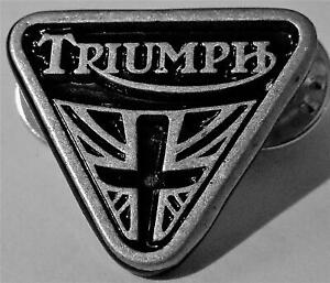 NEW SUPERB QUALITY TRIANGLE TRIUMPH MOTORCYCLE PIN BIKER BADGE