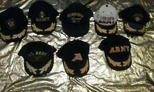 Lot 7 Vintage Army Snapback Lot 1 USS Theodore Roovelt CVN-71 Hat Cap